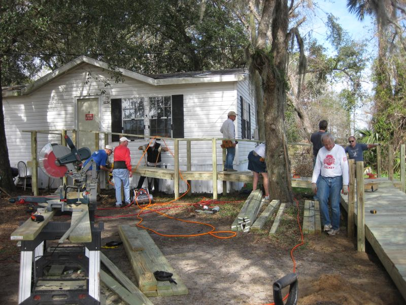 Merrill Lynch - Wheelchair Ramp Team Working
