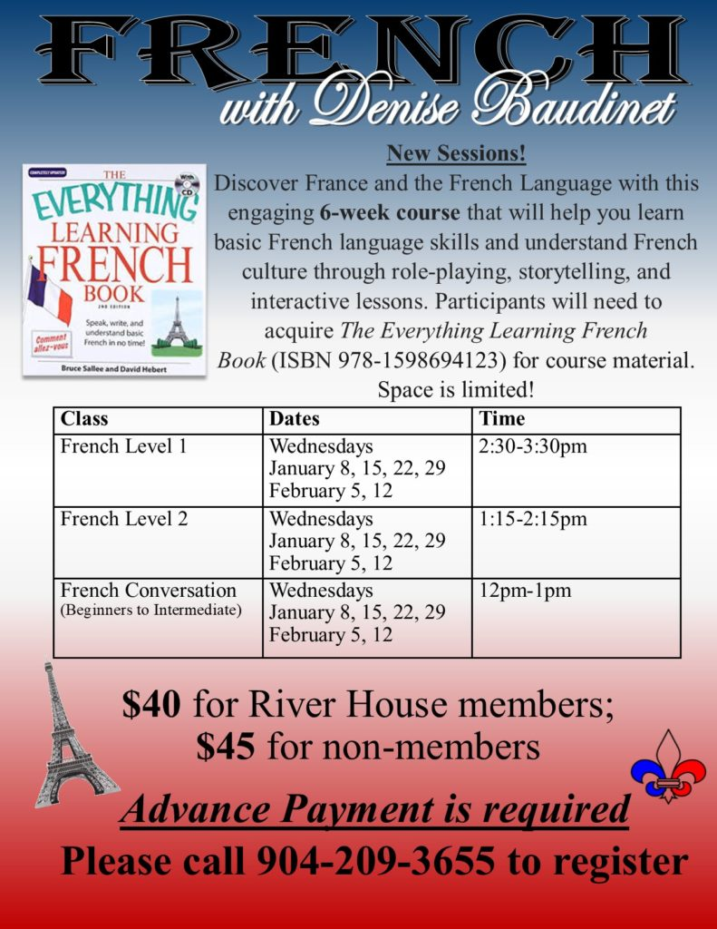 French Classes in January Flyer