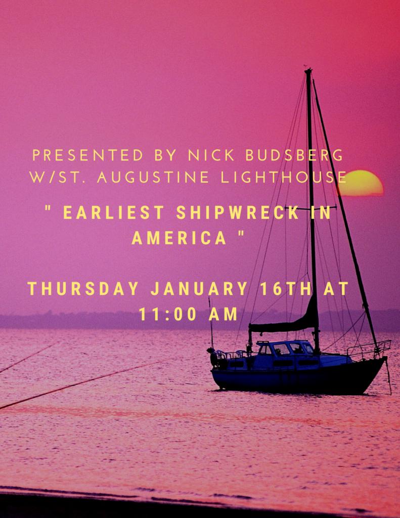 Earliest Shipwreck in America Flyer