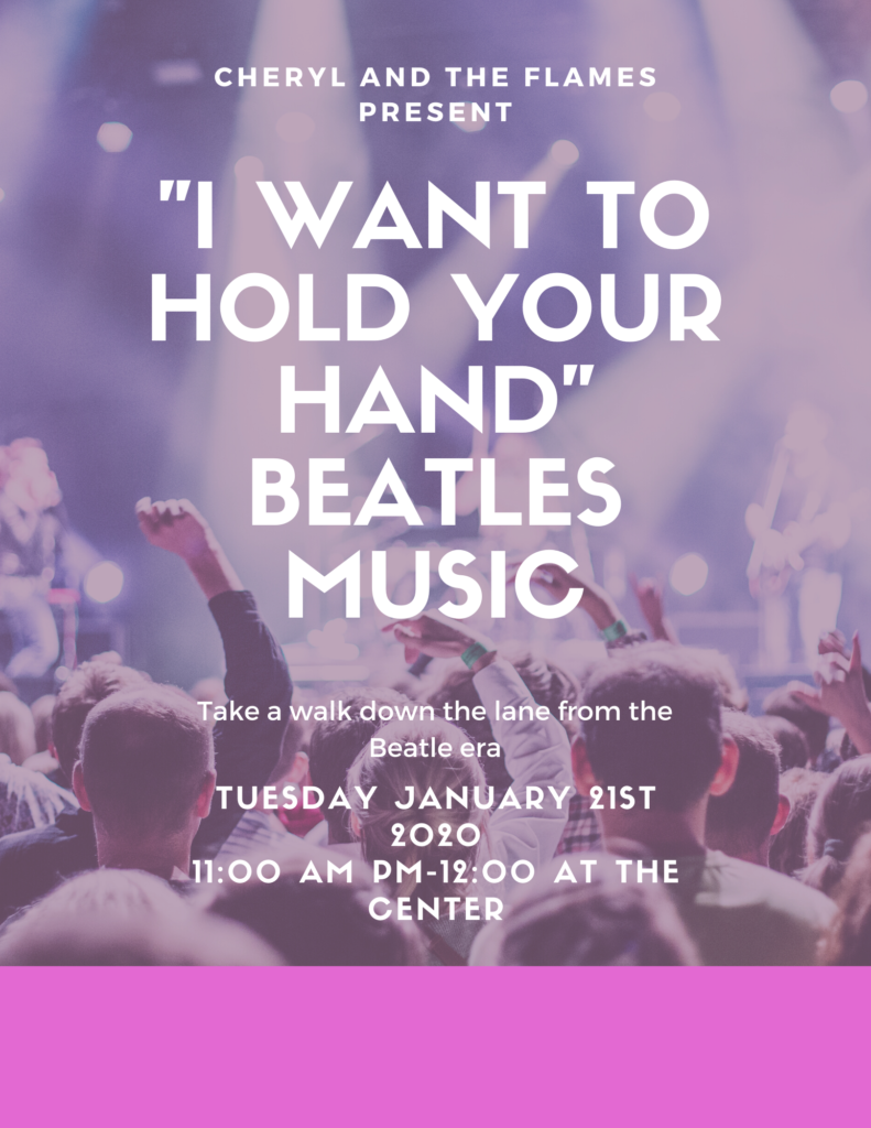 I Want to Hold Your Hand Beatles Cover Band Flyer