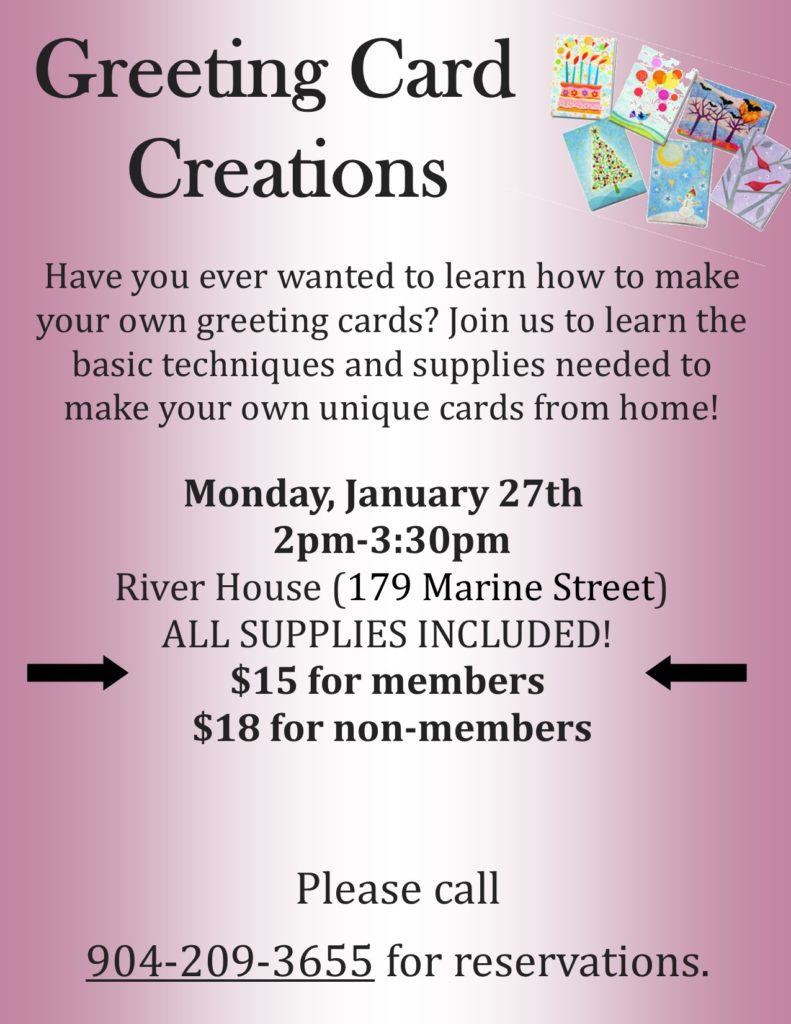 Greeting Card Class flyer