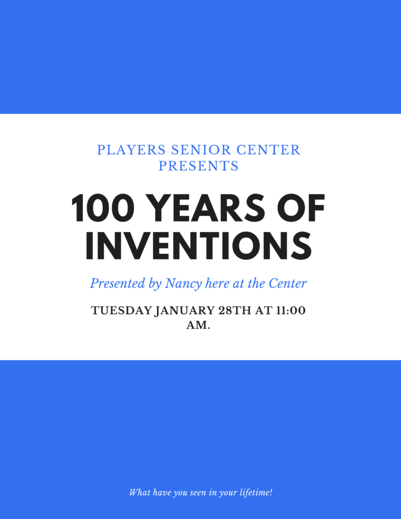 100 Years of Inventions Flyer