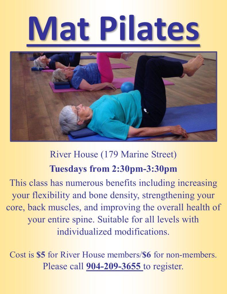 Mat Pilates Tuesdays Flyer
