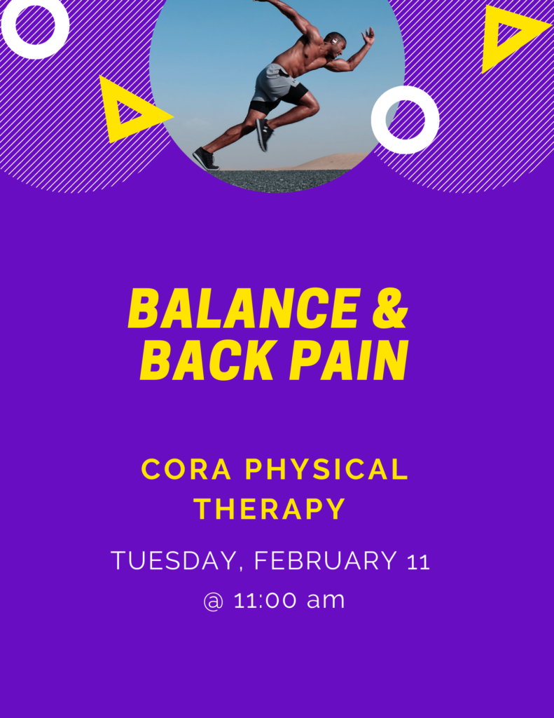Balance and Back Pain Therapy Flyer
