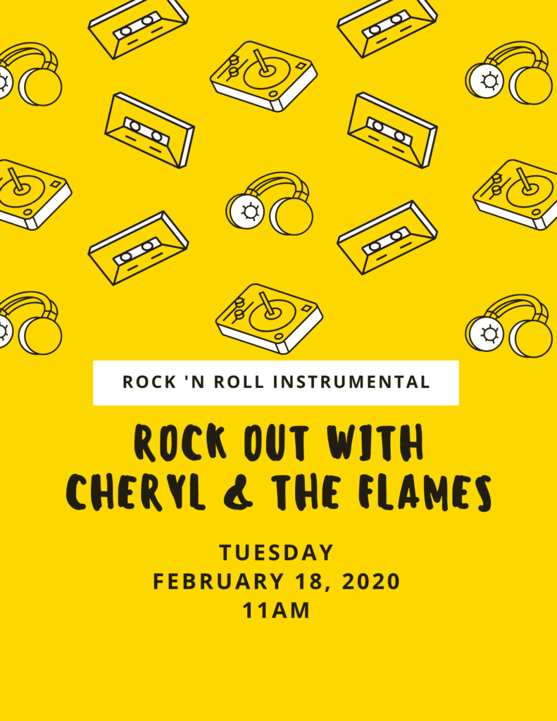 Rock Out with Cheryl and the Flames Flyer