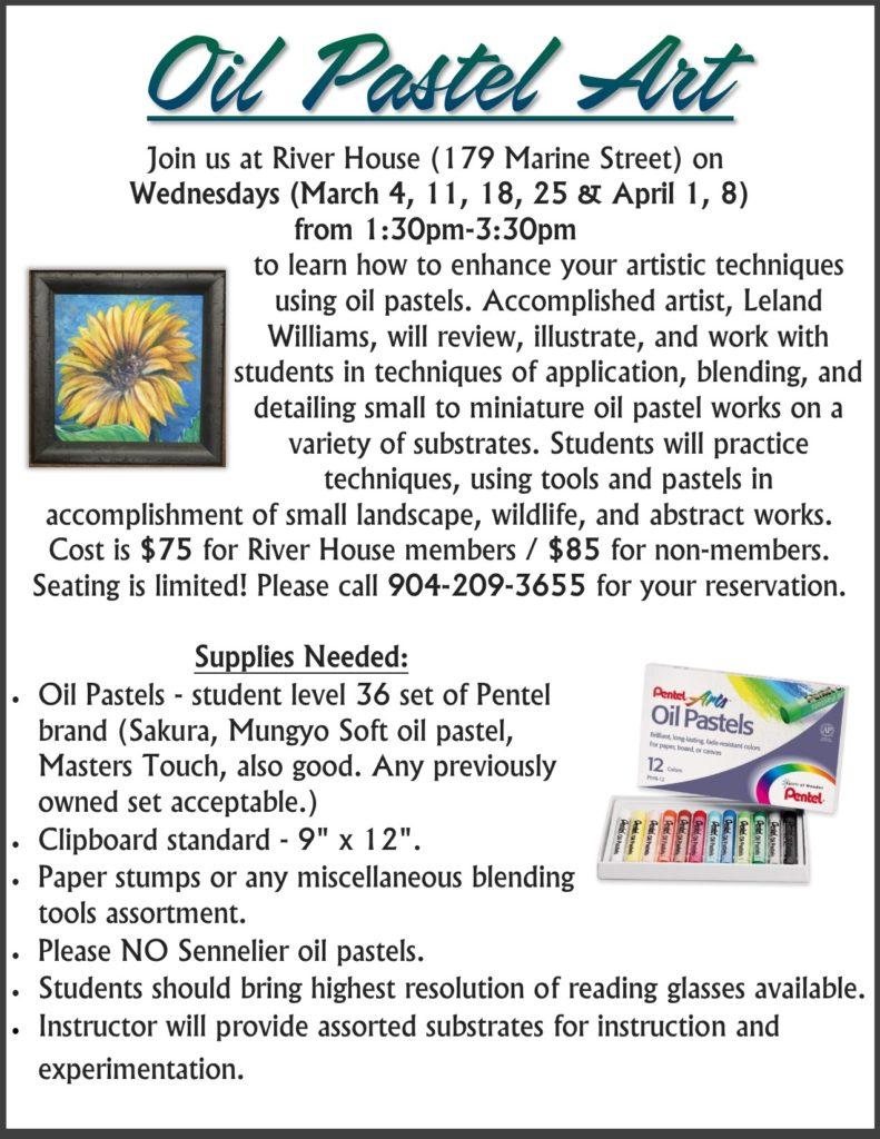 Oil Pastel Art Flyer
