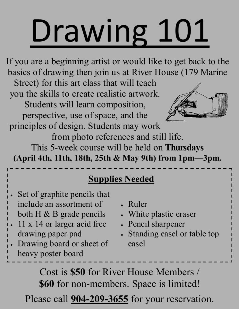 Drawing 101 Class Flyer