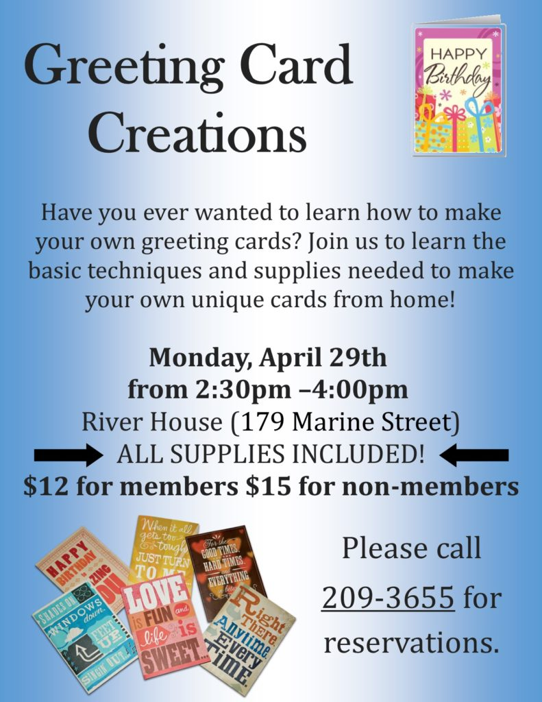 Greeting Card Creations Class Flyer