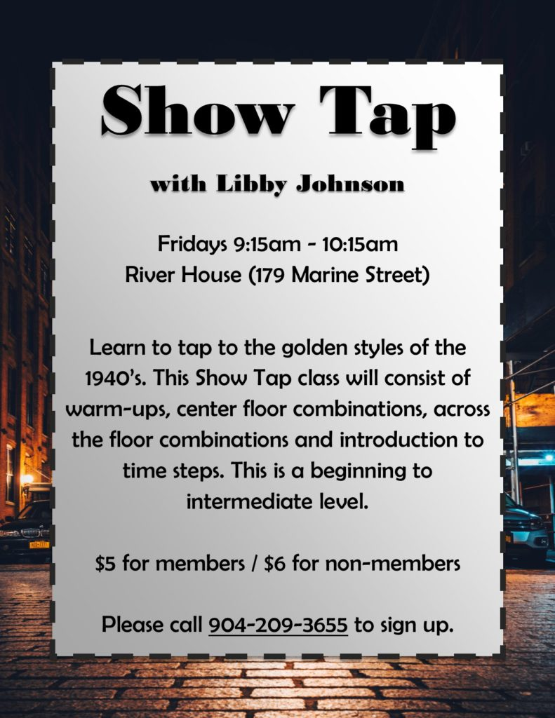 Show Tap Fridays Flyer