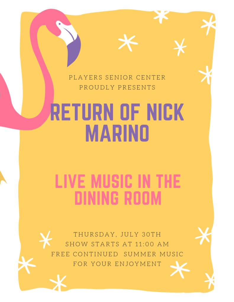Live Music with Nick Marino