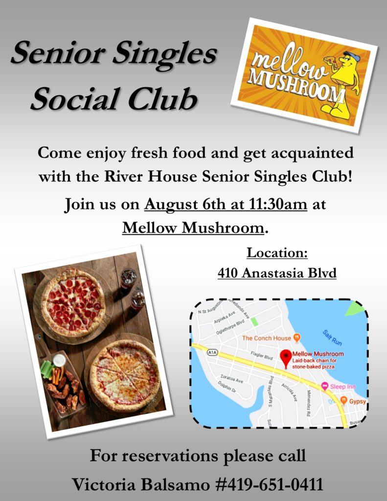 August Senior Singles Club