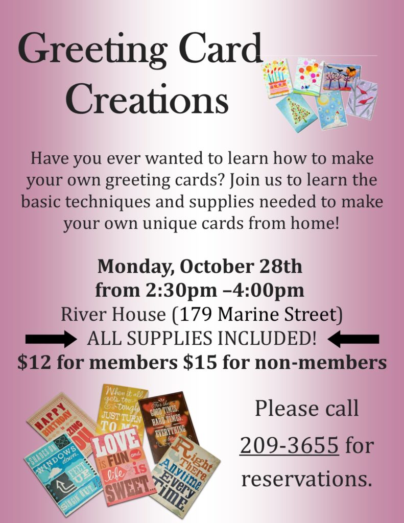Greeting Card Creations Flyer for the River House