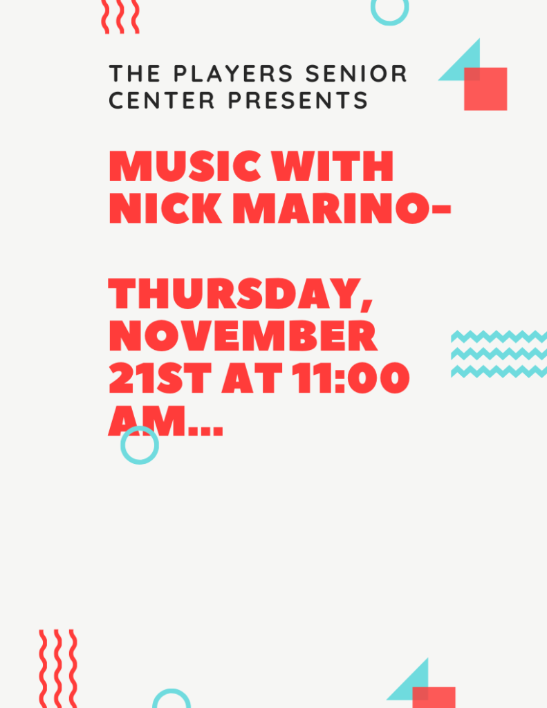 Music with Nick Marino Flyer