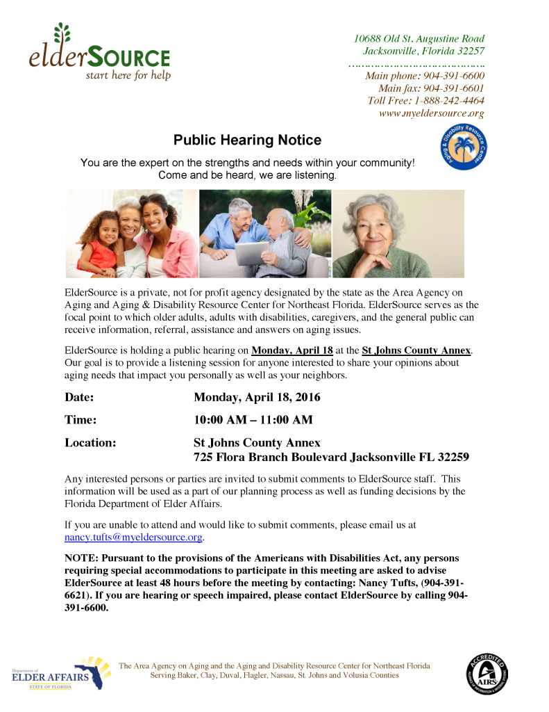 Public Hearing - St Johns County - County Annex