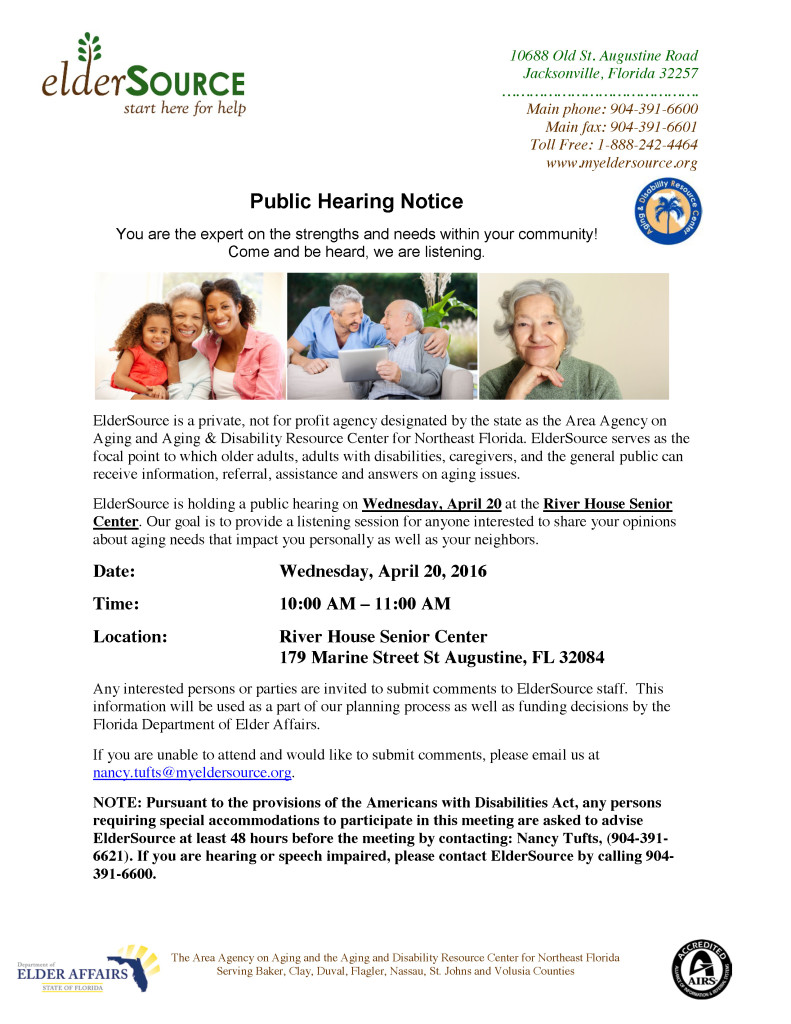 Public Hearing - St Johns County - River House