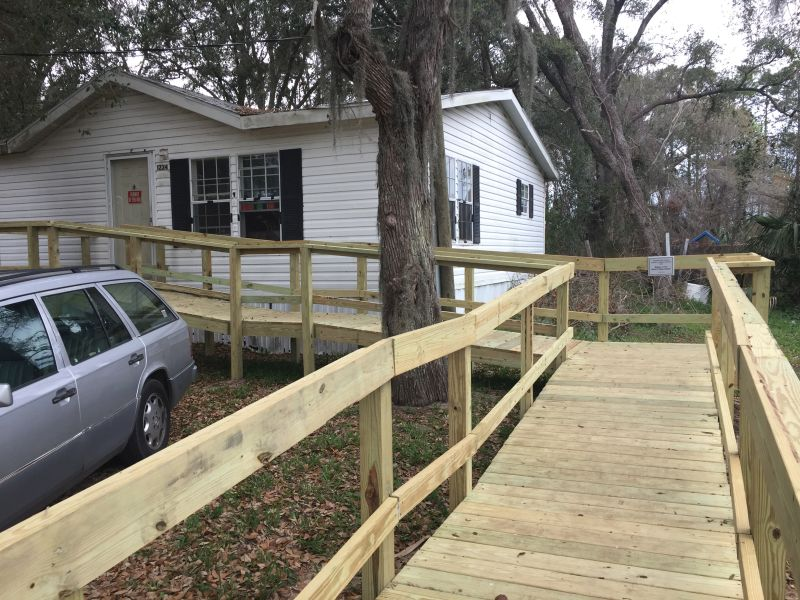 Merrill Lynch - Wheelchair Ramp Completed