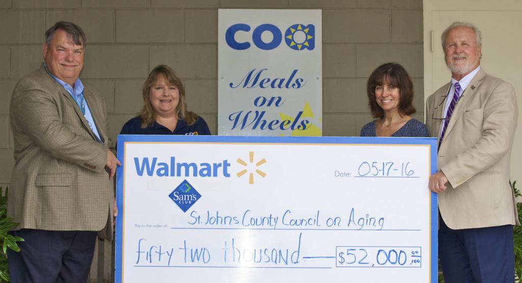 WalMart check presentation