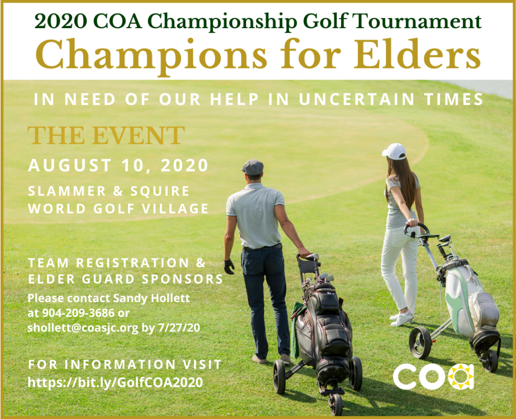 Champions for Elders Golf Event - August 10th at Slammer and Squire