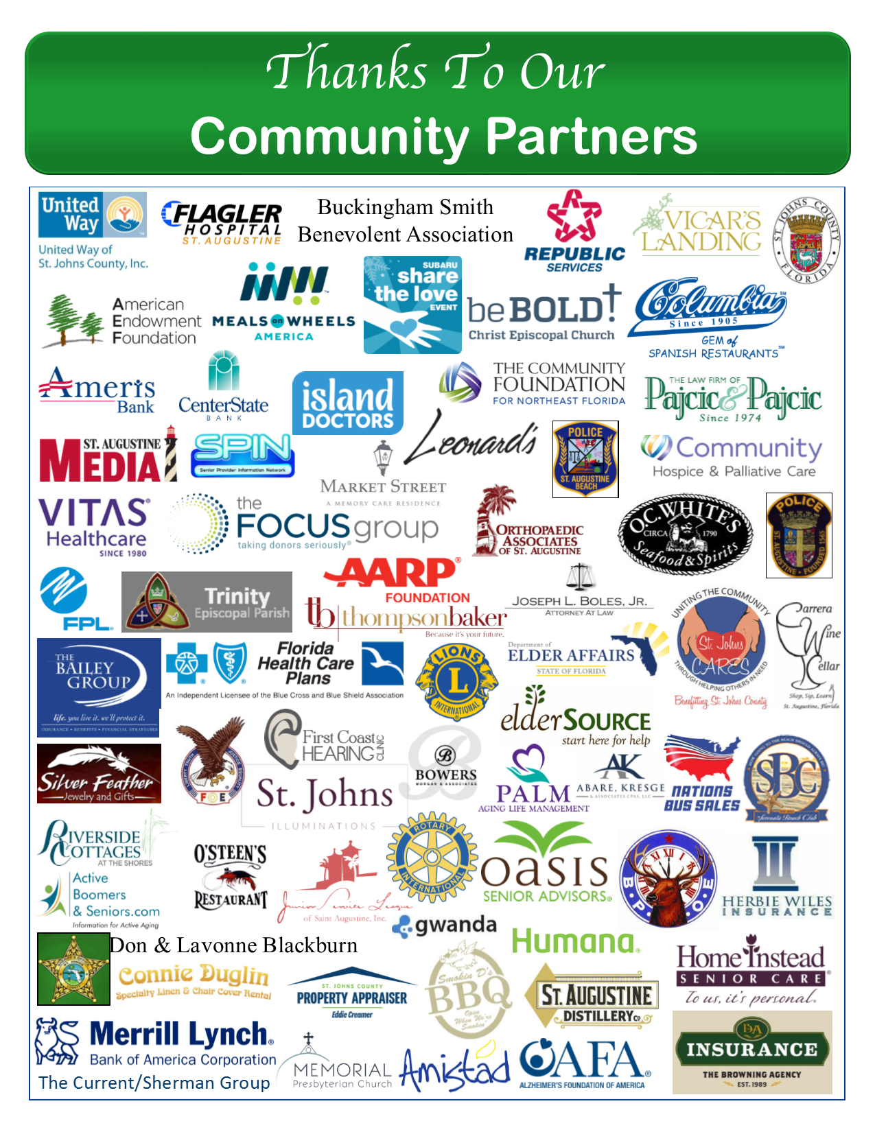 COA's Community Partners