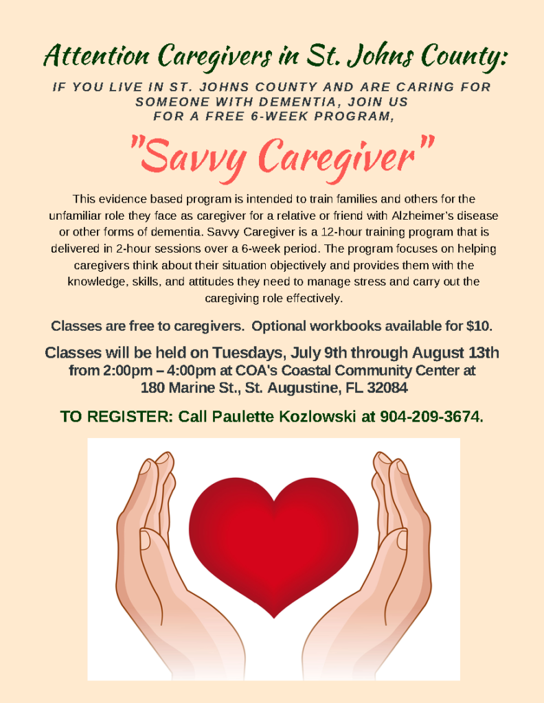 Flyer Heart - Be a Savvy Caregiver