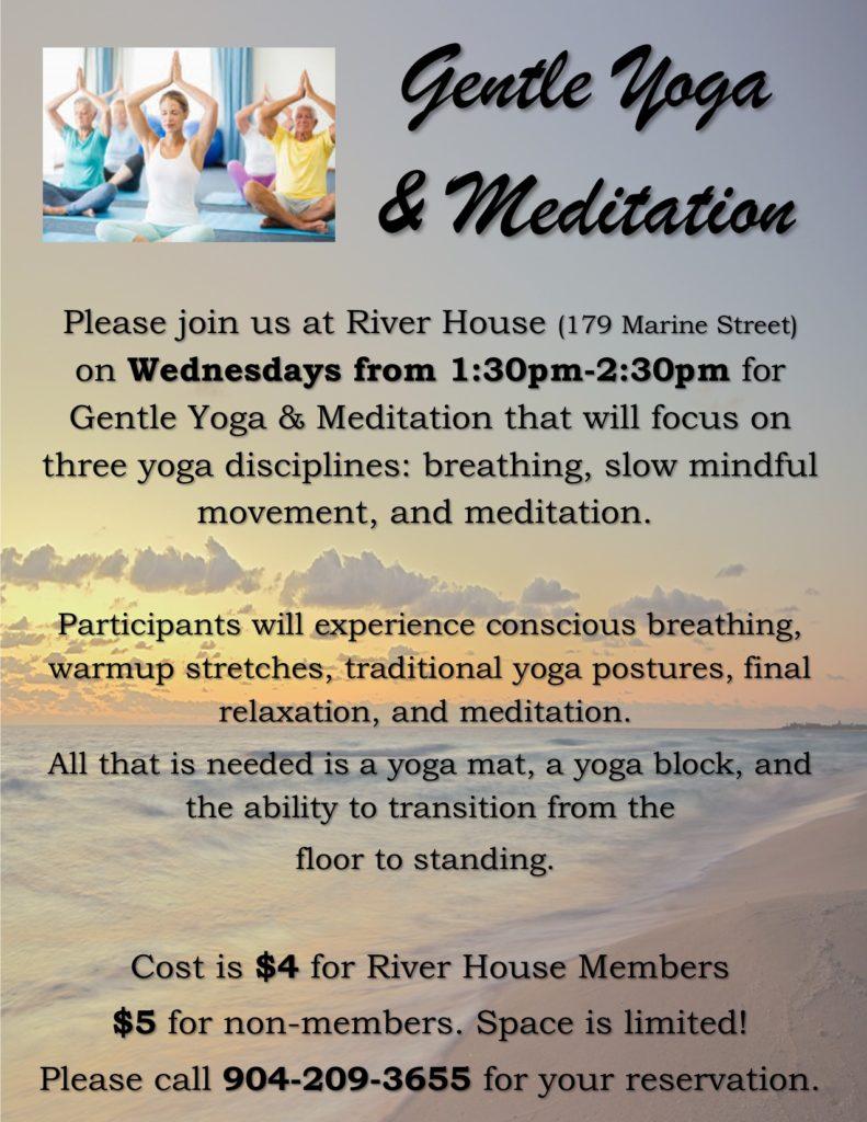 Gentle Yoga and Meditation Class on Wednesdays
