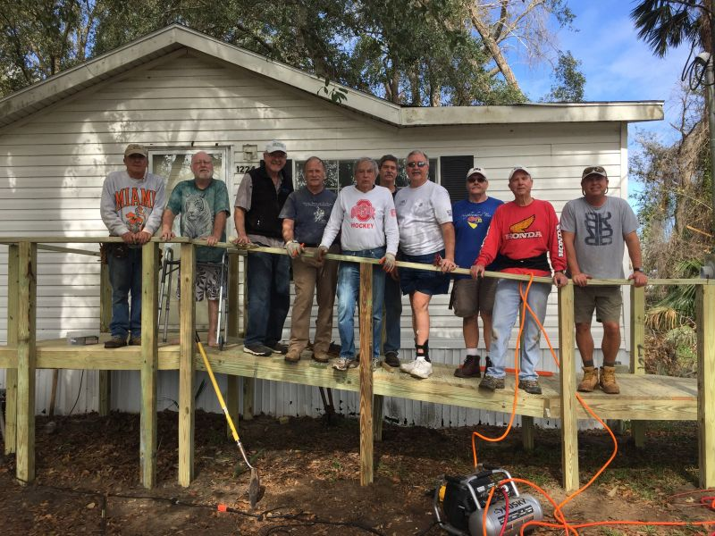 Merrill Lynch - Wheelchair Ramp Team - Work Done